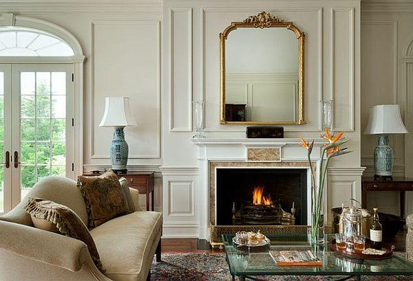 French-style camelback loveseat sofa