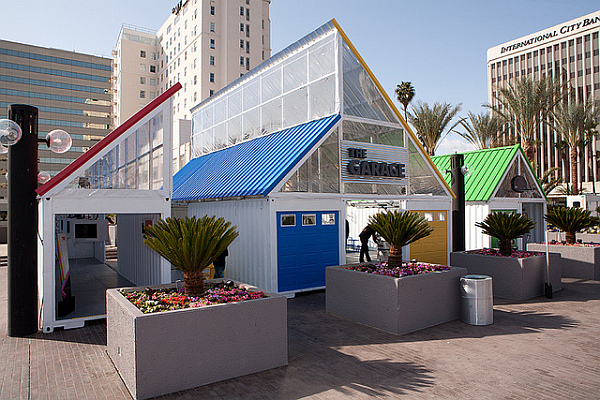 Google at TED – shipping container stand