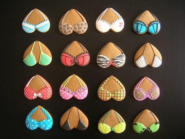 decorated cookies – bras