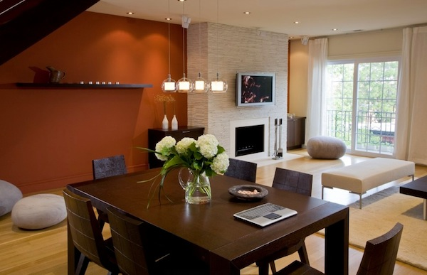 dining room accent wall open dining