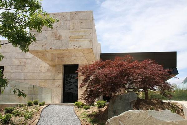 stylish stone house