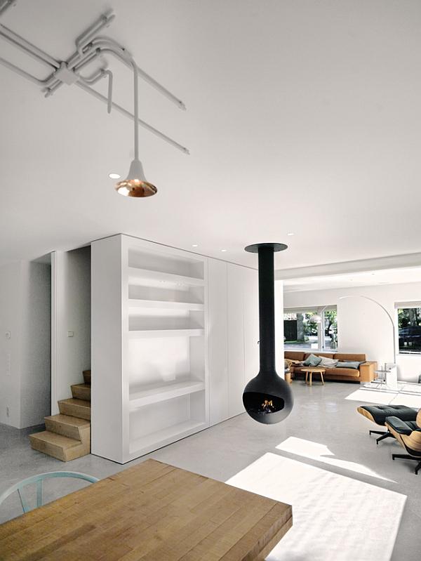 white modern living room