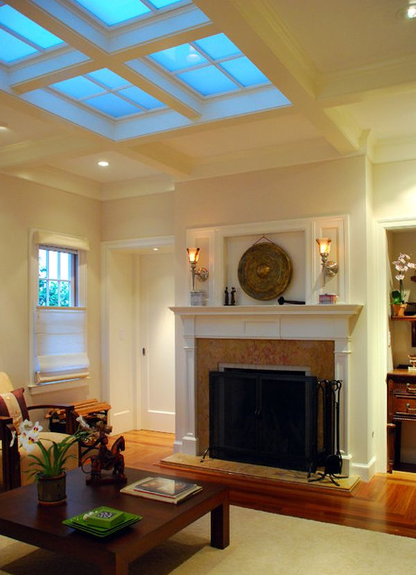 Classic Living Room blueprint with warm hues and cool skylights