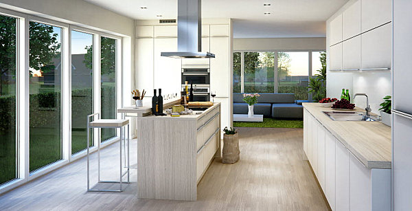 Light and airy Scandinavian kitchen