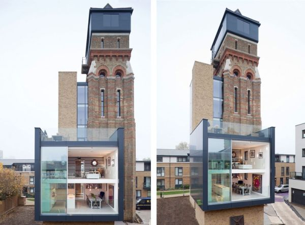 water tower transformation in London