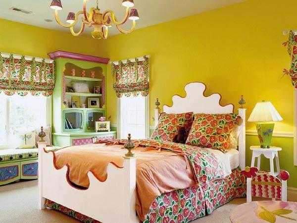 Acid yellow girls' room