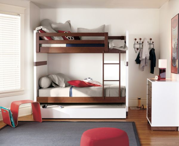 Daft Bunk beds with a Trundle bed at the lower level