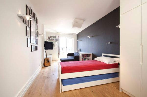 Elegant kids bedroom with a trundle bed perfect for a sleepover