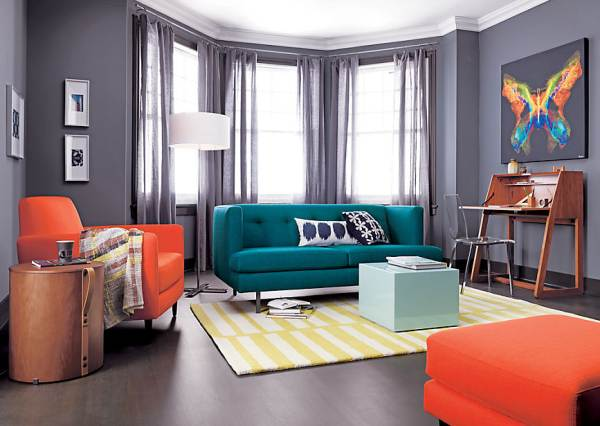 Glossy mint coffee table