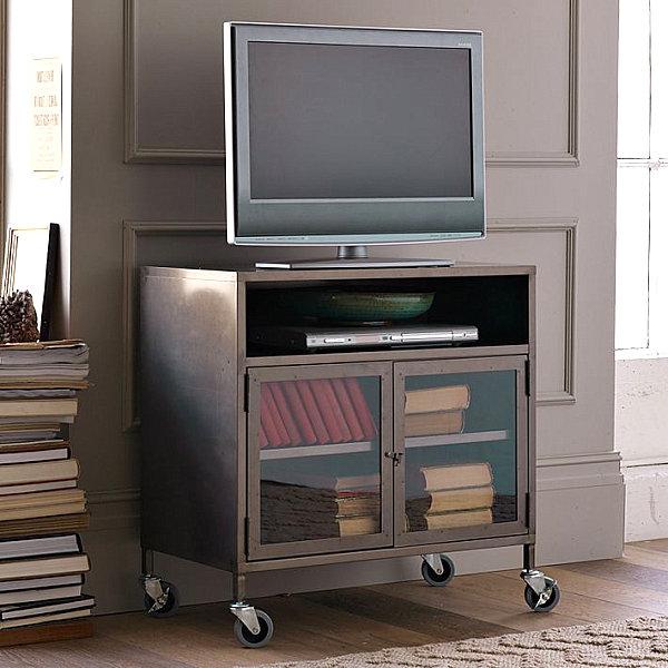 Industrial TV cart on wheels
