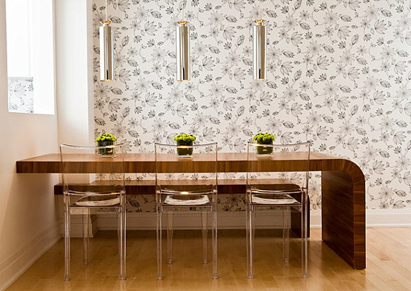 Modern curved table