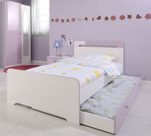 Trundle bed with minimalist style ideal for urban kids bedroom