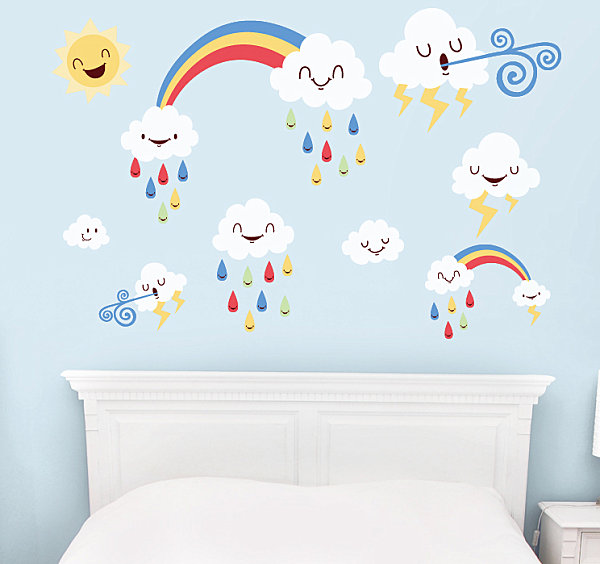 Weather wall decals