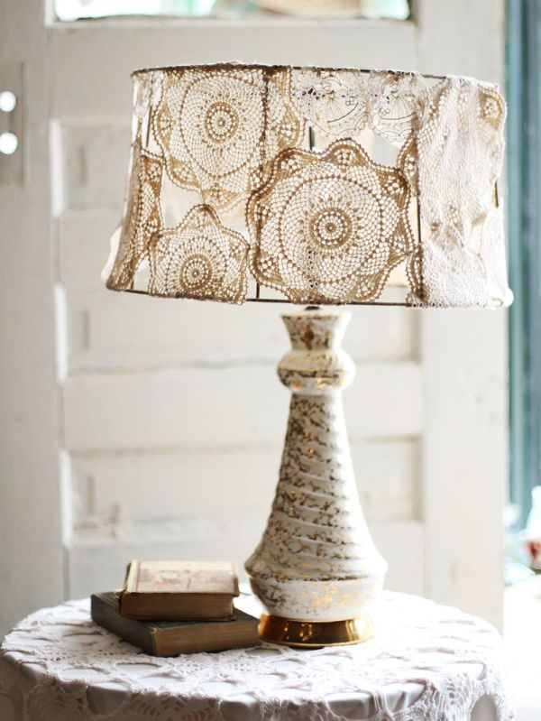 Cool DIY doily lampshade