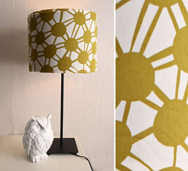 DIY fabric covered lampshade design