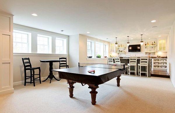 ultra elegant tenis table in games room