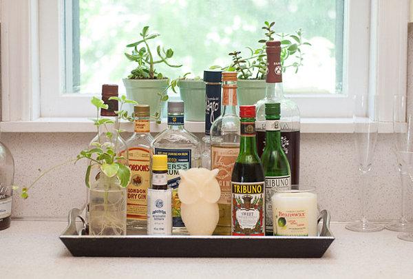 A stylish display of liquor