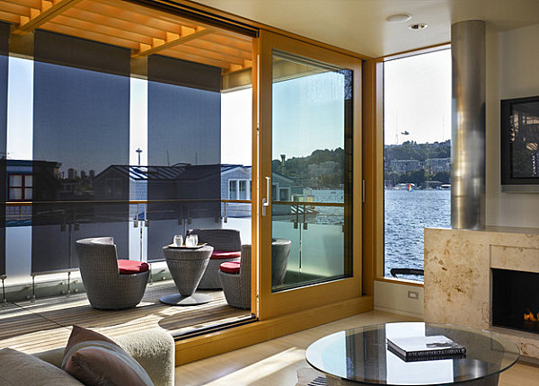 Floating home deck