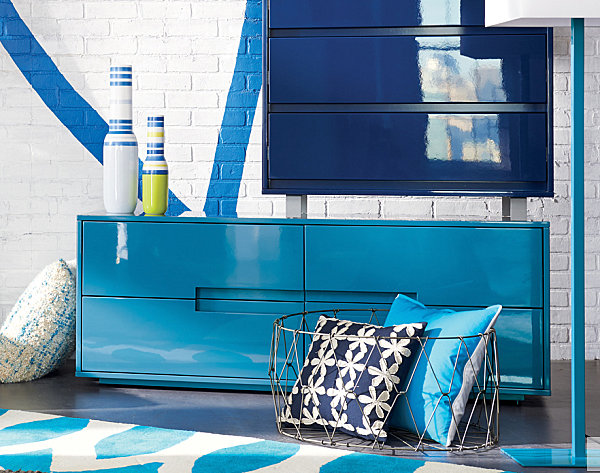 Shades of blue from CB2