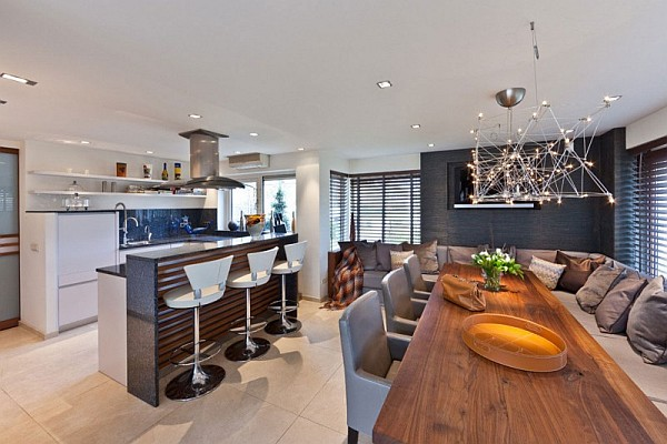 beautiful kitchen and dining table