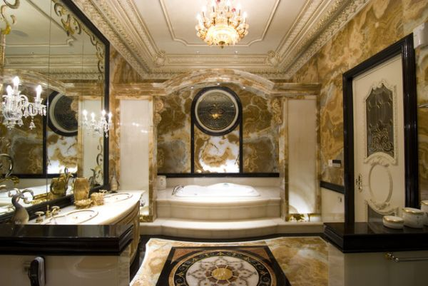 This beautiful bathroom is nothing short of luxurious.