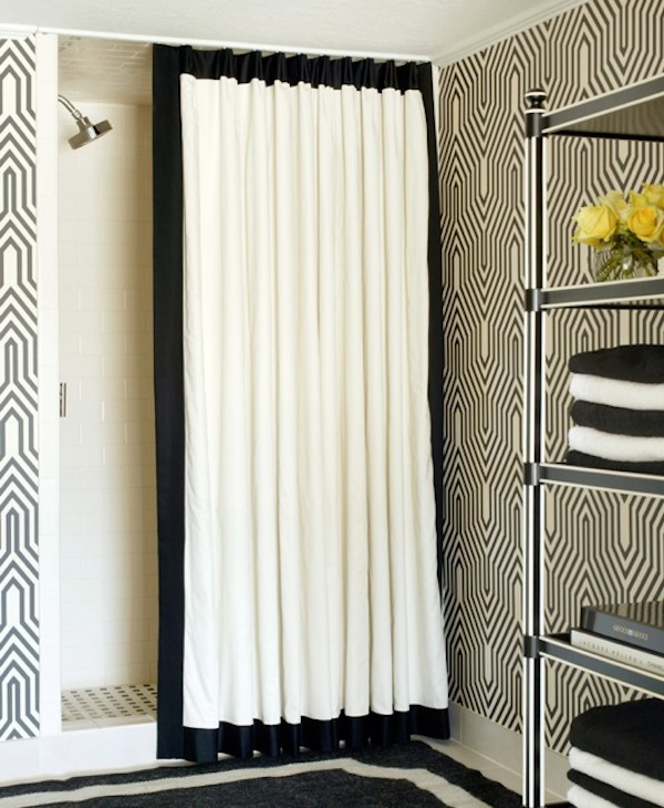 black and white curtain vertical