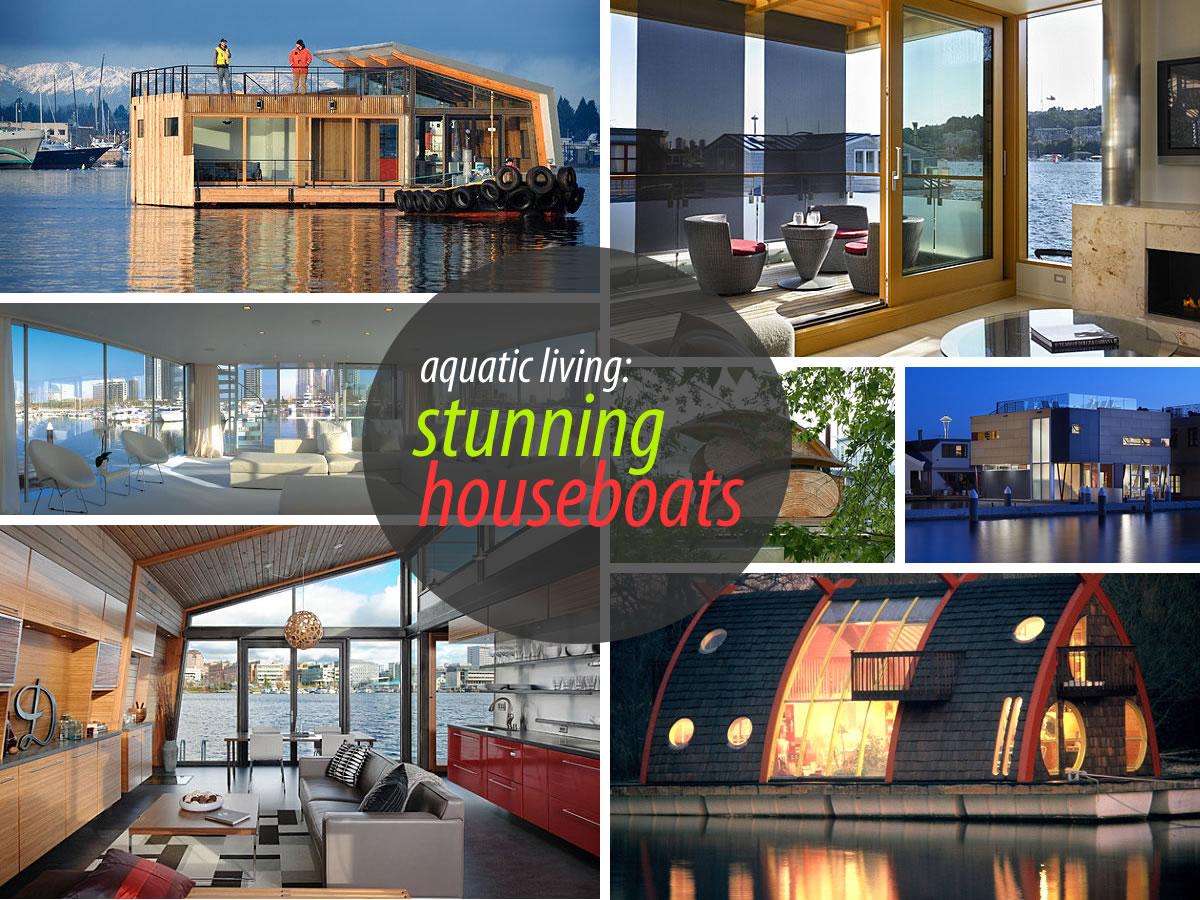 stunning houseboats