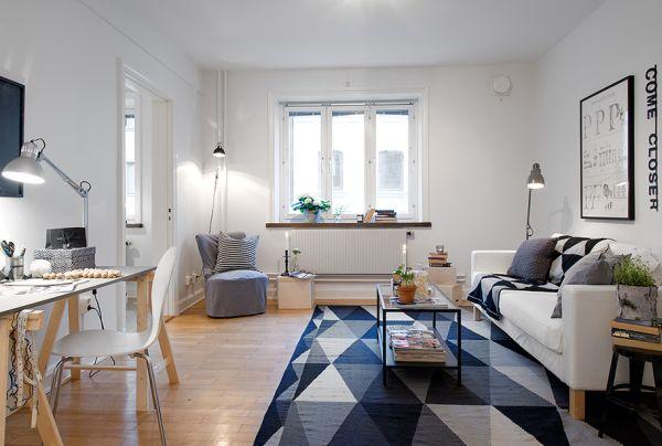 swedish interior design - tiny apartment