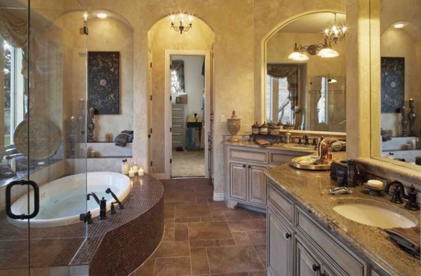 There's no such thing as wasted time in a bathroom that looks like this.