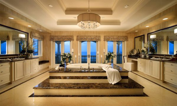 Splendor and relaxation are the two main things that come to mind with this luxurious design.