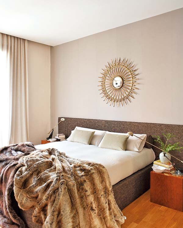 beautiful bedroom with a traditional design