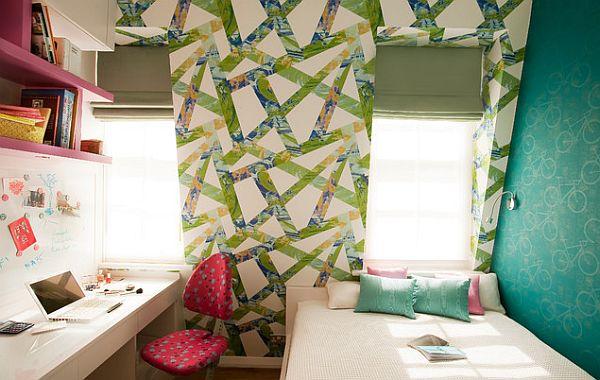 Colorful girls bedroom furniture