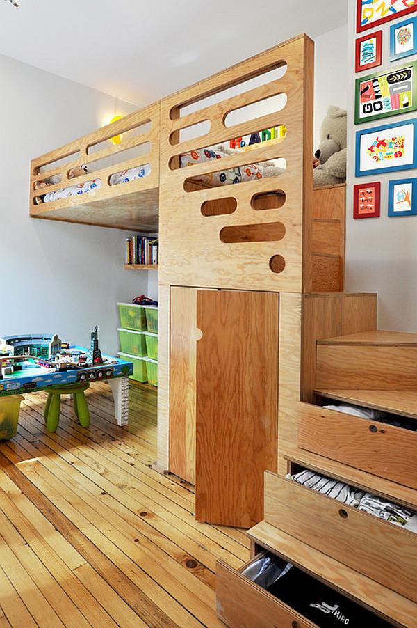 Custom-made modern kids bedroom furniture