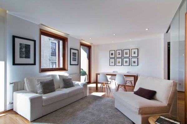Interiors clad in largely neutral tones