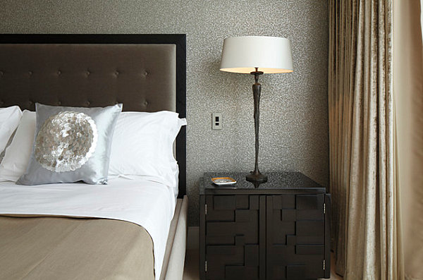 Luxury bedroom with lacquered furniture