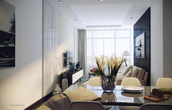 Modern living space with ample natural ventilation