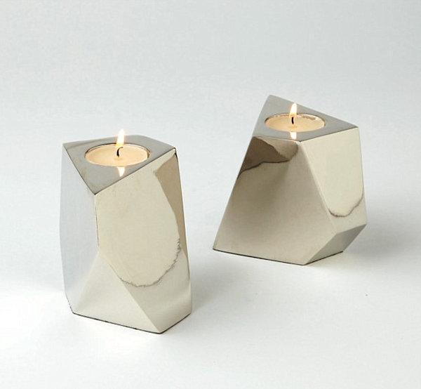 Nickel votive candleholders