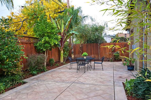 Outdoor patio in a small yard