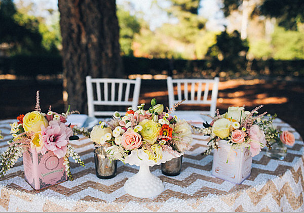 Outdoor spring table