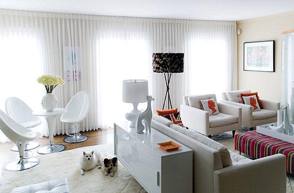 white lacquered furniture