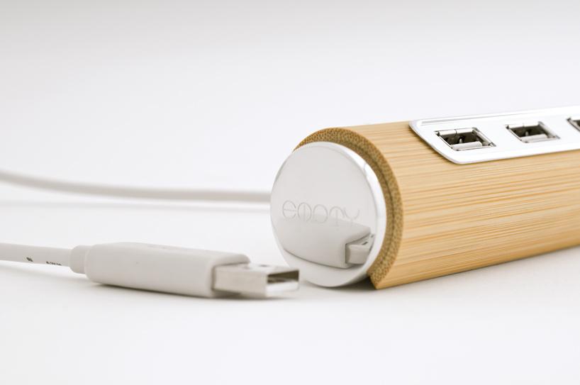 bamboo USB hub