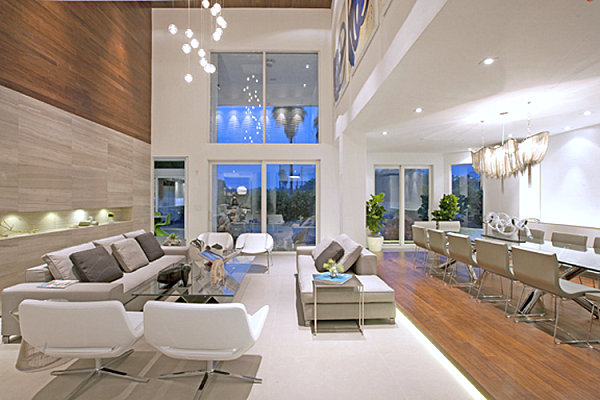 Clean lines in a modern living room