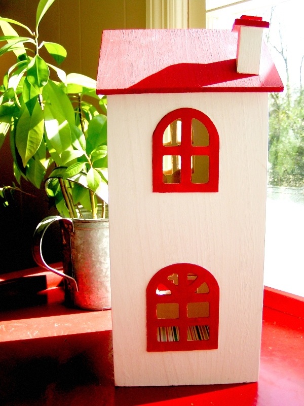 DIY CD Tower Dollhouse