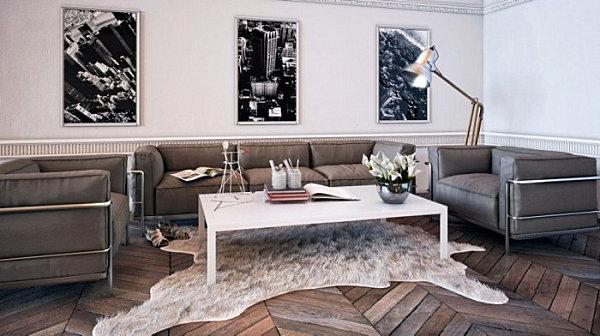 Earthy meets modern masculine living room