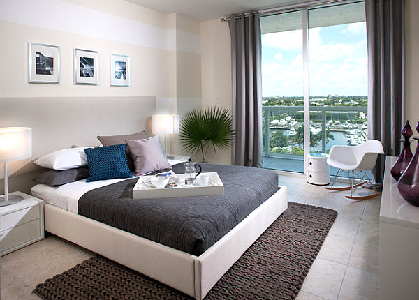 Knit rug in a moderm Miami residence