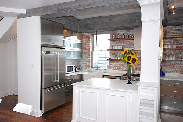 New York kitchen with metallic accents