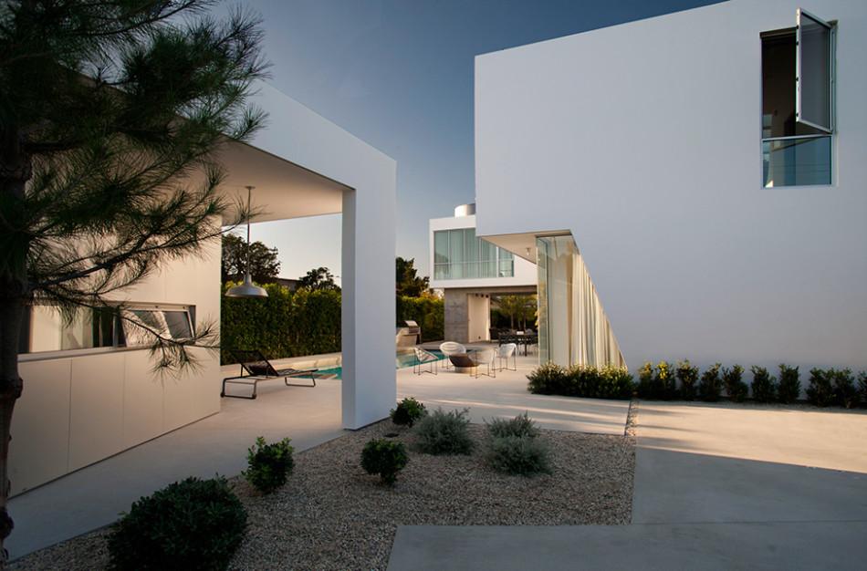 white stucco villa