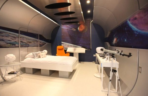 Contemporary bedroom that is all about journey into the unknown!