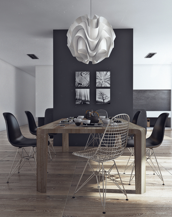 Dining room decor that is simple and elegant