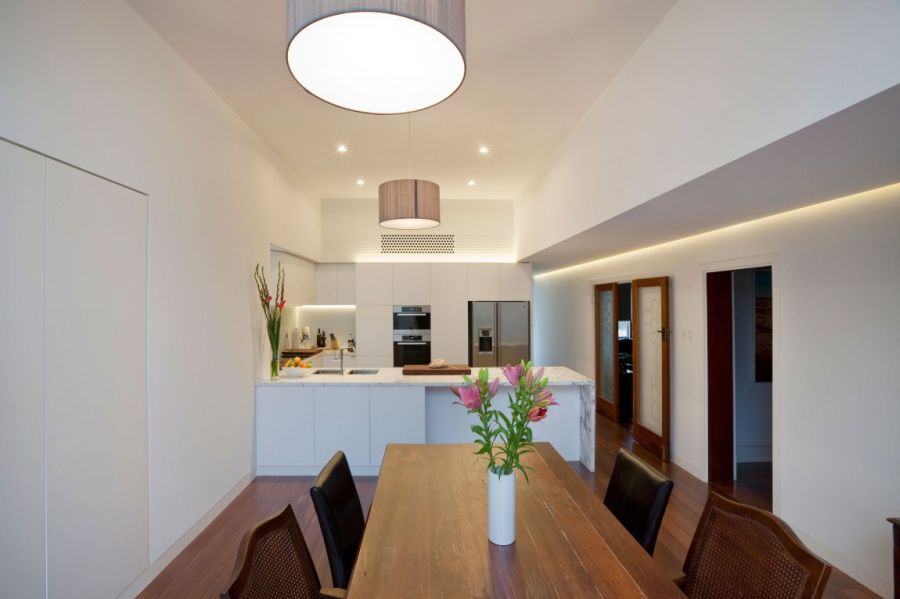 Ergonomic kitchen and dining space